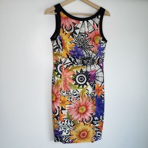 Marc Cain Floral Sheath Dress Size N3 or 8US